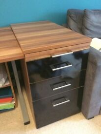 As new office filing cabinet with 3 drawers