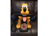 DISNEY PLUTO WORKING LAND LINE PHONE - TALKING ANIMATED