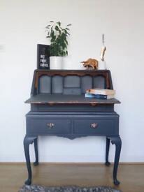 A dark grey & copper leaf Bureau desk