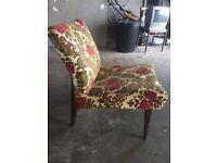 Flower print easy chair