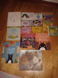 Lot of Kids books, Pengui in Peril, My Bear Griz, Alphabet Tongue Twisters, Beatrix Potter, more