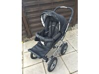 Emmaljunga edge 3 in one combi plus car seat. New winter tyres