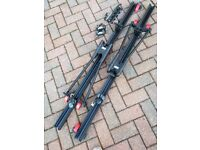 Locking bike cycle Carriers (x 2) suitable for VW Mk4 Golf or Bora Roof Bar System