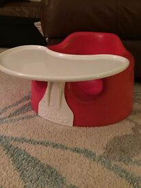 Red Bumbo with tray perfect condition!