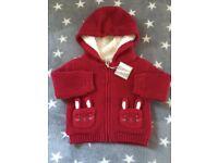 John Lewis baby knit fleece jacket