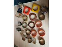 Mixture of bracelets bangles costume jewellery