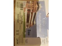 2 adult tickets for sale Day 4 England V Pakistan at Lords