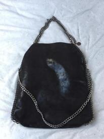 Designer style bag with chain straps