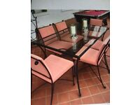 Table and 6 chairs which matching unit