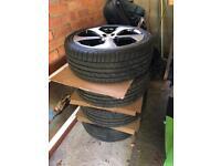 "Volkswagen Golf GTI alloys & tyres 18"" As new!"