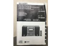Separates SHARRP CD-S600 Feat. Genuine Remote,Manual and Leads