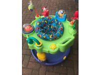 Baby wobble/ stationary activity station