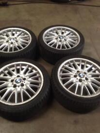BMW front and rear set of wheels with tyres