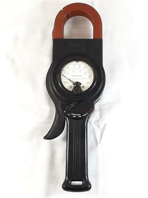 Vintage Weston Model 633-60 Amperes A.c. Clamp On Amp Meter With Original Case