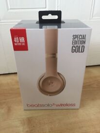 Brand New Beats by Dr. Dre Solo3 Wireless Headband Headphones Gold