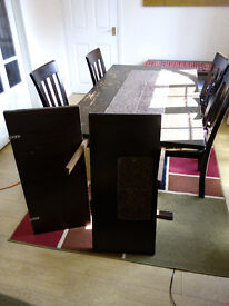 Dining Table (£49) high quality hand made extendable solid wood plus 4 chairs (£49)