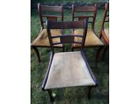 6 Antique Regency Period / Style Chairs