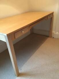 Wood veneer desk