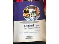 Criminal law: the fundamentals (first edition). Christina McAlhone and Rebecca Huxley-Binns
