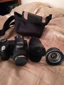 Digital Camera with bag and 3 lenses