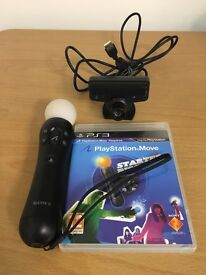 Playstation Move Motion Controller and Camera with started disc