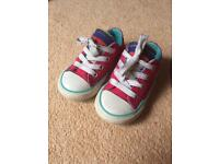 Girls toddler shoes size 4, 4.5, 5 Clarks/Converse