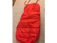 Universal fleece lined buggy/car seat liner vgc