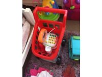 Toy trolley and till