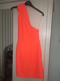 AQAQ orange mini dress size 6