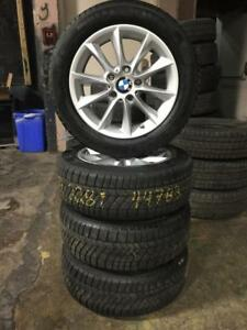 205 55R 16 CONTINENTAL WINTER SNOW TIRES & BMW RIMS 5X120 BOLT WITH SENSORS 218I 228I 230I ET44 EXCELLENT CONDITION