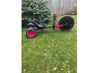 Huffy go-cart pink 8+ years with adjusting seat