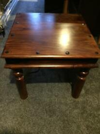 Small dark wood coffee table