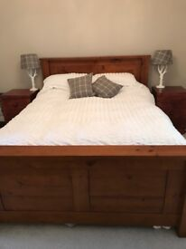 King Size Bed frame solid cherry wood