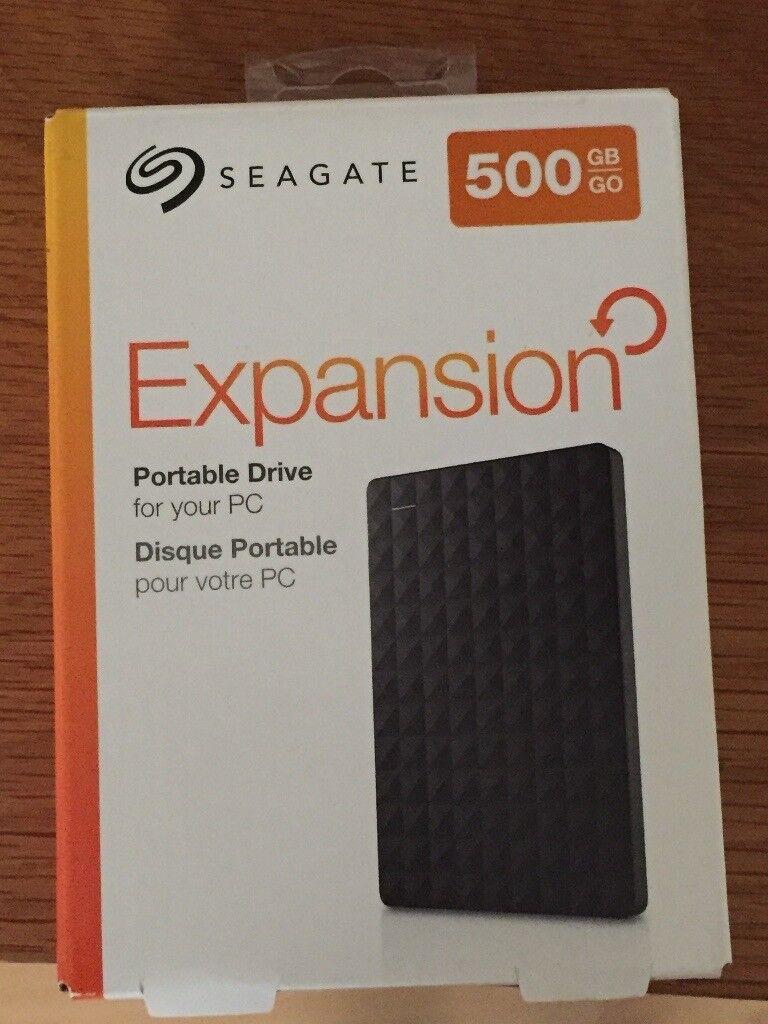 Seagate 500gb Expansion portable drive