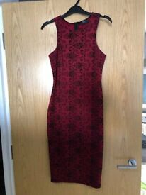 Beautiful red dress hardly worn size 10. Was £40.00 now selling for £10.00