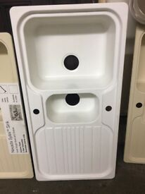 Quartz, Ceramic and Stailess Steel Kitchen Sinks £30 to £50All EX DISPLAY FROM B&Q BARGAIN CLEARANCE