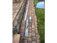 roof gutter free - grey approx 5.4 meter in total length