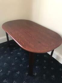 Mahogany wooden solid dining table