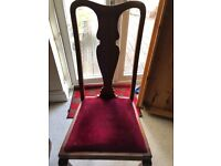 8 mahogany dinning room chairs all in very good condition.