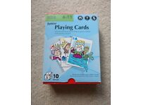 Children's large playing cards age 6-11 years