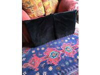 2 X LARGE, SOFT FLEECY IKEA CUSHION COVERS WITH FREE MEMORY FOAM INSERTS