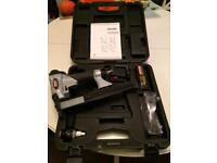 Rexon, magnesium Brad nail gun, with case and loads of extras, like near new condition.