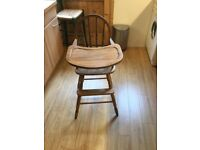 Child's Traditional Wooden High Chair