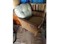 Single armchair with cushion