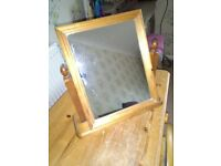 Pine Mirror, for Dressing Table