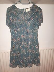 Urban Outfitters teal floral dress - medium