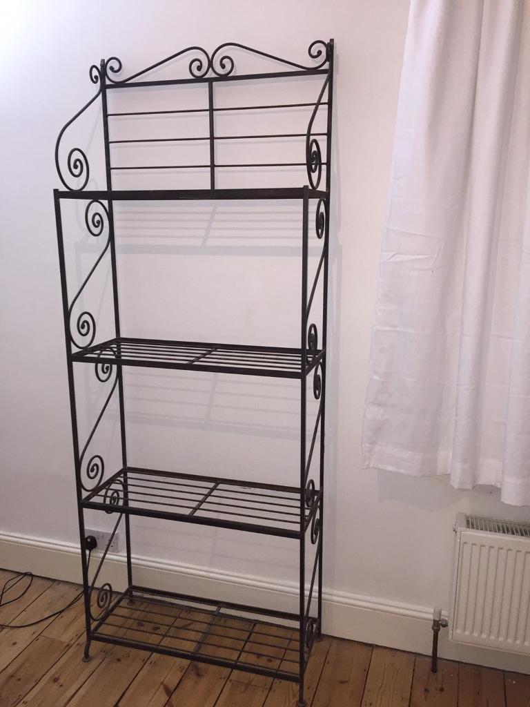 wrought iron bookcase storage unit in barnet london gumtree. Black Bedroom Furniture Sets. Home Design Ideas