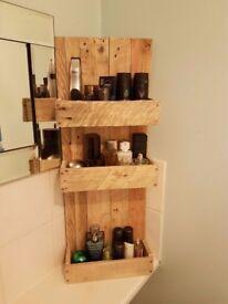 Beautiful bathroom shelves storage Handmade
