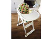 Mothercare Valencia Highchair with Cushion Cream Unisex Middleton Leeds RRP £80