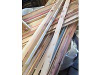 Fencing wood laths edgeing